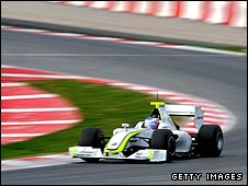 Jenson Button in the Brawn F1 car