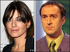 Claudia Winkleman and Angus Deayton