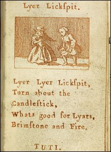 Page from Tom Thumb's pretty songbook