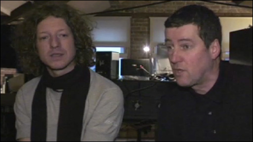Musicians John Power and Peter Hooton