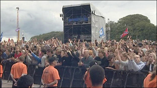 Crowds at Leeds festival