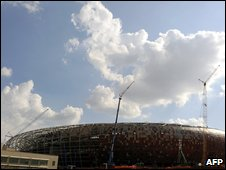 The newly built FNB stadium in Johannesburg, March 2009