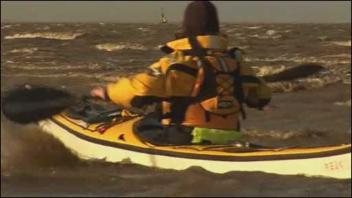 Kayaker on River Mersey