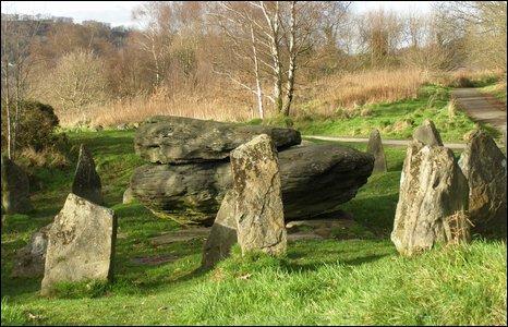 The Rocking Stone in Pontypridd. Photo by Irene Williams