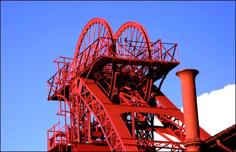 The winding gear at Rhondda Heritage Park. Photo by Mal Durbin.