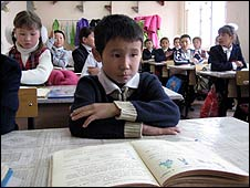 School in Kyrgyzstan renovated by the Americans