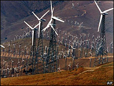 Wind turbines near Mojave, California