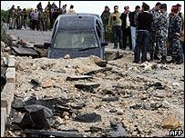 السيارة بعد التفجير