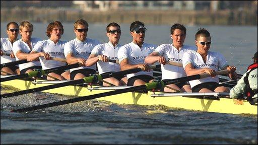 Cambridge University's Boat Race crew