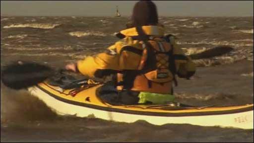 Kayak on River Mersey