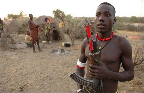 Nyangatom cattle herder