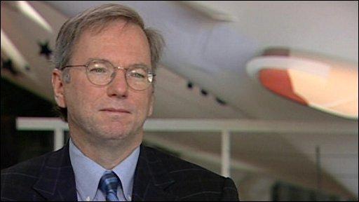 Google CEO, Eric Schmidt
