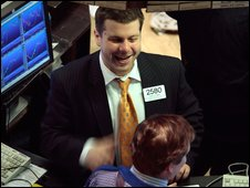 Traders on the New York stock exchange