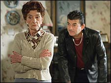 June Brown with EastEnders co-star John Altman