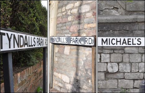 Tyndall's Park - or Tyndalls Park Road - next to St Michael's Hill