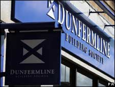 Dunfermline Building Society sign