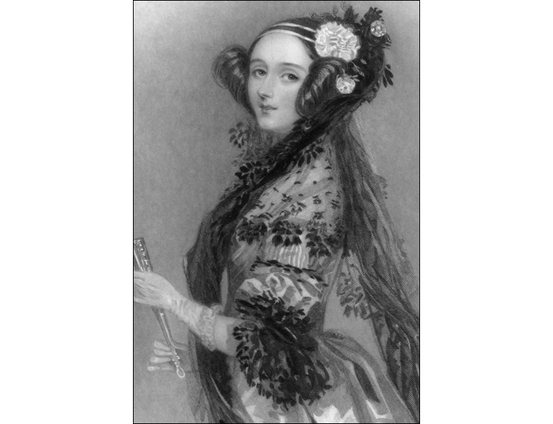 Portrait of the beautiful mathematician, Ada Lovelace. c. 1840