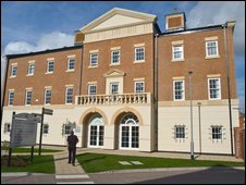 The fire HQ at Poundbury