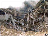 Разрушенное здание в городе Нови Сад