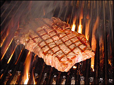Grilled steak (Image: BBC)
