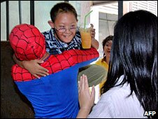 Spiderman saves the day!