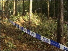 Woodland where body was found in 1991