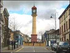 Tredegar Town Clock.  Photo by Barry Cowles.