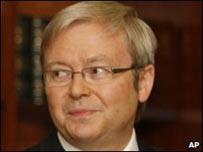 El primer ministro italiano, Kevin Rudd