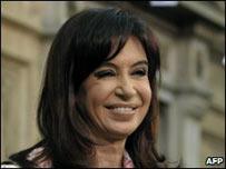 Presidenta de Argentina, Cristina Fern�ndez.