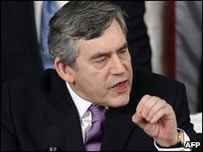 El primer ministro brit�nico, Gordon Brown