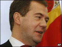 El presidente ruso, Dmitry Medvedev