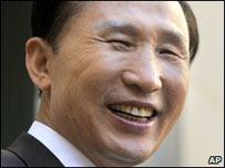 El presidente surcoreano Lee Myung-Bak