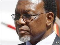 El presidente de Sudáfrica, Kgalema Motlanthe.