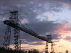 Transporter Bridge at sunset. Photo by Paul Huddleston.