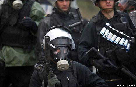 Israeli riot police in Umm al-Fahm