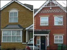 Adam Zahir's homes in London (left) and Lancashire (right)