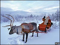 Papá Noel en Rovaniemi, Finlandia