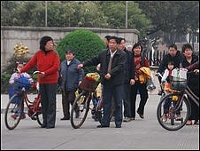 Residents of the Ping Yang Lu Jia Yuan estate