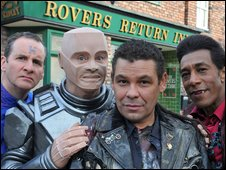 Red Dwarf crew on Coronation Street
