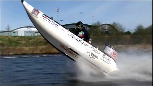 Powerboat on the River Tees