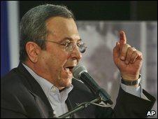 Ehud Barak addresses delegates