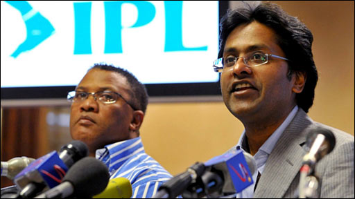Cricket South Africa chief executive Gerald Majola and IPL commissioner Lalit Modi