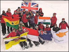 The Commonwealth Expedition team