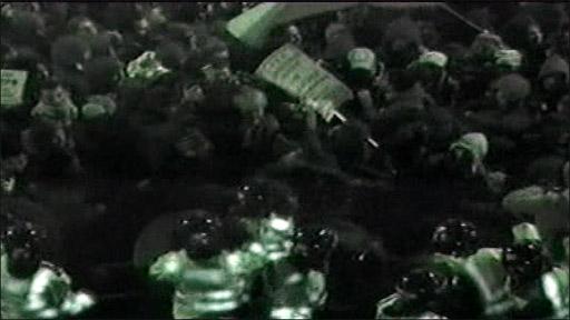 ce CCTV footage of Israeli Embassy protest