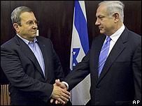 Ehud Barak y Benjamin Netanyahu