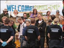 Climate Camp protest at Kingsnorth in 2008