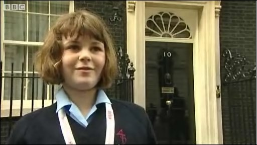 School Reporter at Downing Street