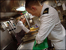 Chef on submarine