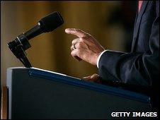 Barack Obama addresses reporters at the White House, Washington DC, 24 March 2009