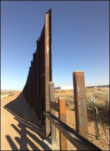 Border fence between US and Mexico